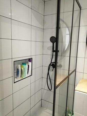 Frontal de duche preto