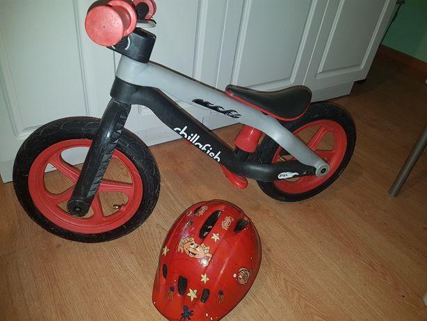 Rowerek biegowy i kask