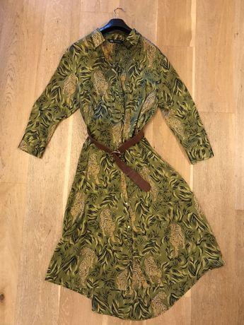 Sukienka w tygrysy