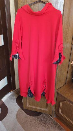 Нарядное платье алого цвета