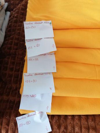Bawełna ubraniowa żółta dla dzieci koszulki materiały do szycia