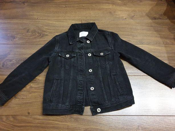 Kurtka zara jeans 128 czarna
