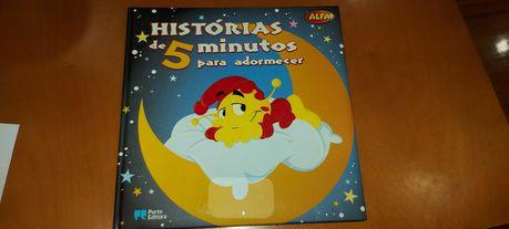 Livro Histórias de 5 minutos para adormecer Alfa