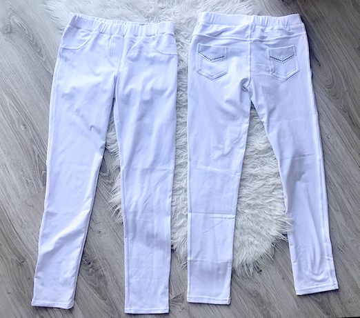 legginsy białe podkreślające pupę elastyczne