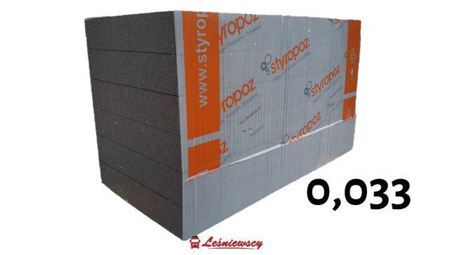 Styropian GRAFIT fasadowy elewacyjny lambda 033-10cm-33,2zł OD RĘKI!