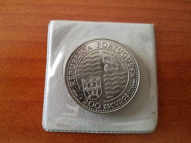Moeda 200$00 D. João II Principe Perfeito 1495 - Descobrimentos