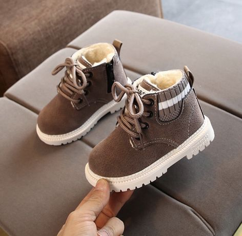 Зимние демисезонные ботинки для мальчика и девочки