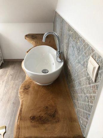 Drewniany blat monolit łazienka kuchnia stół biuro dąb orzech loft