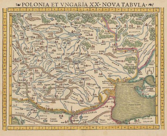 POLSKA cz. 1 reprodukcje XVI w. map do wystroju wnętrza 40x30 cm