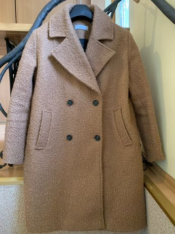Płaszcz kamelowy beżowy Reserved miś teddy bear 42 - 44