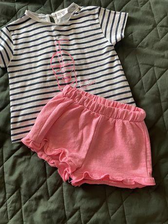 Koszulka i spodenki Zara, rozmiar 80