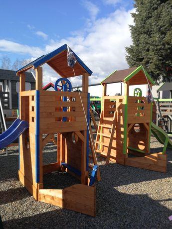 Plac zabaw STATEK, domek dla dzieci, huśtawka, meble ogrodowe.