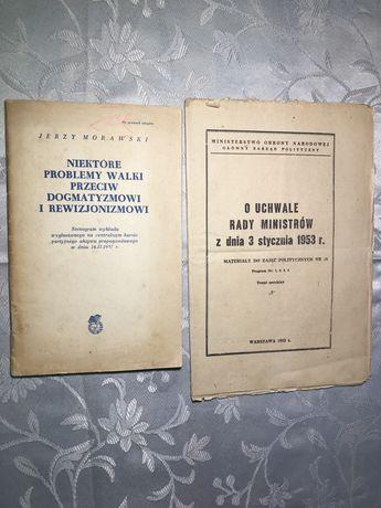 Komunizm dokumenty polityczne rewizjonizm dogmatyzm stenogram