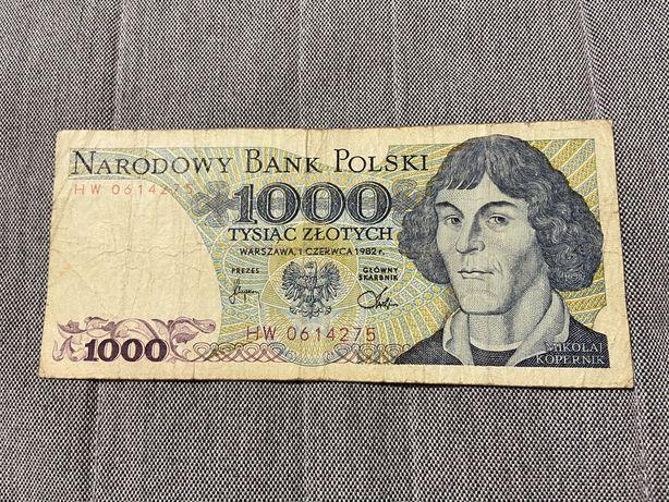 Banknot 1000 złotych z 1982 roku