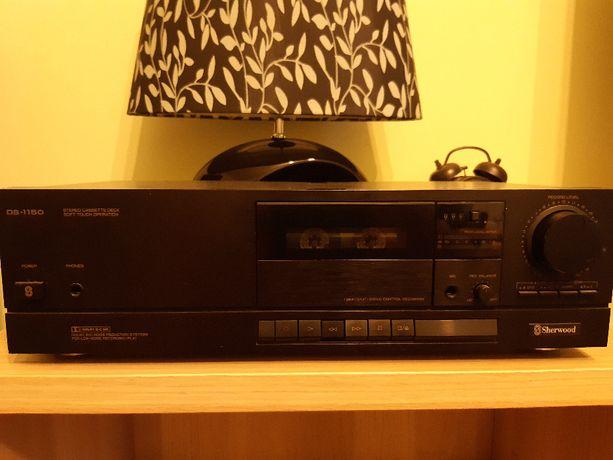 sprzedam niedziałający czarny magnetofon kasetowy do wieży Sherwood