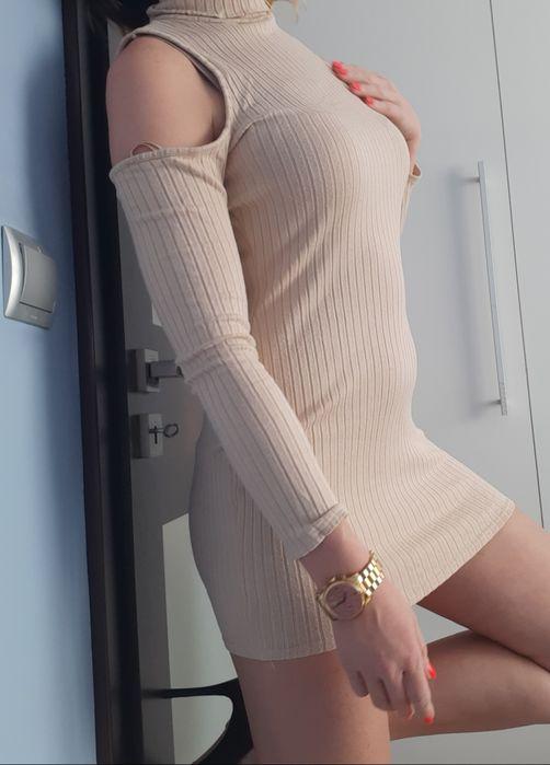Sukienka mini missguided M krem beż Zabrze - image 1
