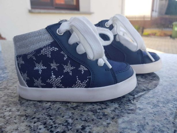 Buty Geox  jak nowe r 21 granatowe dla dziewczynki, trzewiki na jesień