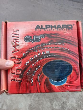 Динамики alphard 6,5 дюйма