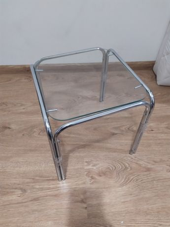 Stolik (szklany i metal)