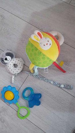 zestaw zabawek dla dziecka gryzak grzechotka