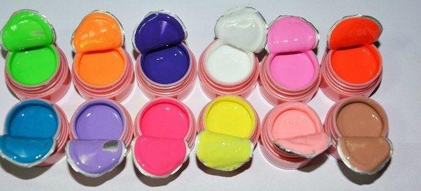 Цветные гели Canni по 5мл набор 12шт