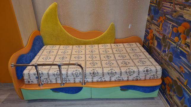 СРОЧНО!Детск.кроватка Лунная сказка Месяц с ортопед. матрасом