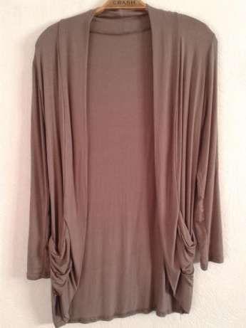 narzutka narzuta kardigan sweterek brąz brązowy