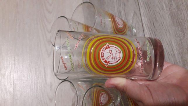 Набор стаканов 6 шт - НОВЫЕ (стекло)