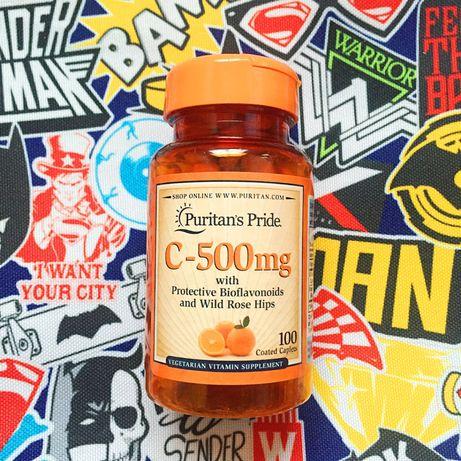 Витамин C Puritan's Pride Vitamin C-500 mg 100шт. Оригинал из США