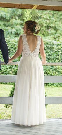 Sprzedam suknię ślubną L