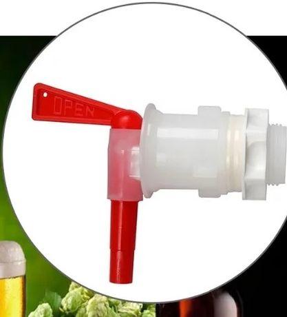 Кран пластиковый врезной для бродильной емкости кран для ферментера