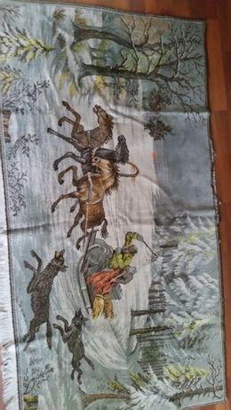 Ковры времен СССР, тройка лошадей в лесу в наличии 2шт,1,30*2,40