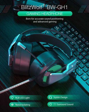 Gaming Headphone 7.1 Surround Sound Bass RGB Game Headset