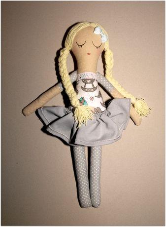 Lala lalka szmaciana rękodzieło na prezent