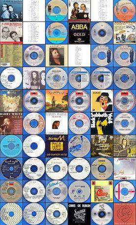 96 cd's com diversas coletâneas musicais