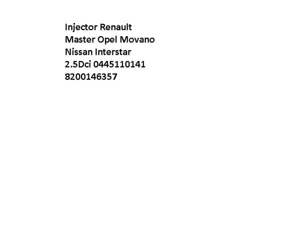 Injetores Bosch Injector Renault Master Opel Movano Nissan Interstar 2