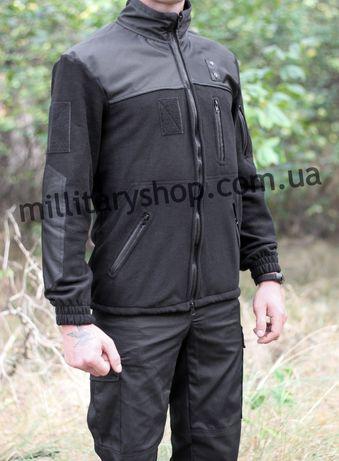 Чёрная флисовая кофта/куртка. Для полиции. Флиска тактическая. Фліска.
