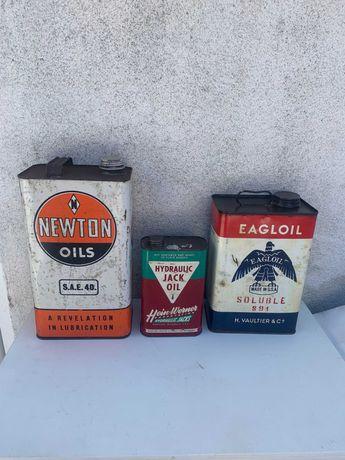 latas oleo vintage