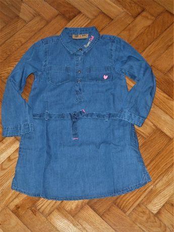Cool Club Sukiennka Tunika jeansowa 104 NOWE
