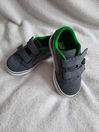 Trampki jak nowe 23 23,5 DC shoes buciki wiosna sportowe szare rzepy