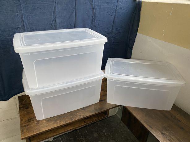 Pojemniki  do przechowywania 50L 3szt zestaw Iris Ohayama