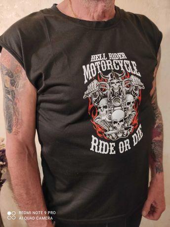 футболка для байкера