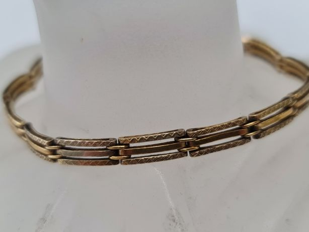Wiekowa złota bransoletka damska/ 585/ 8.69 gram/ 19cm/ Wiekowa cecha