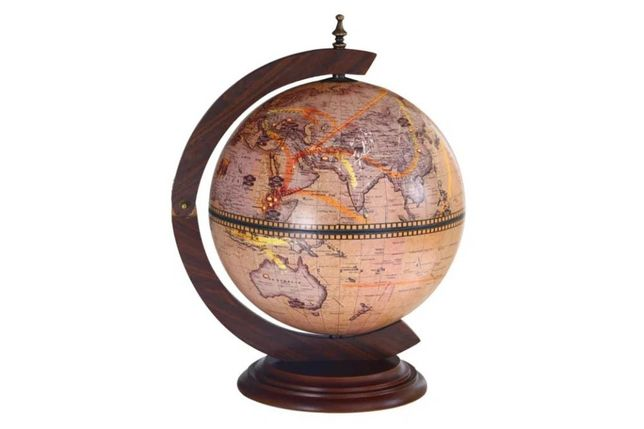 Глобус-бар настольный 33 см сфера, зодиак, 33002N