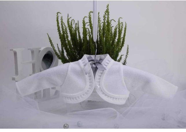 Białe bolerko/sweterek