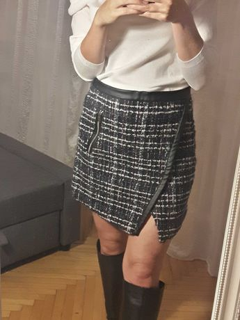 Tweedowa spódnica z kieszonką, Zara