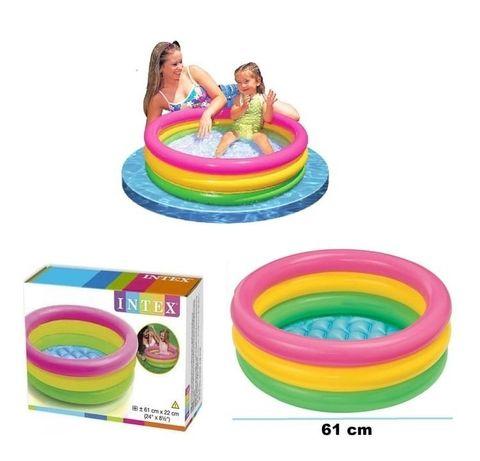 Надувной бассейн для детей Интекс intex Радуга Хит продаж!