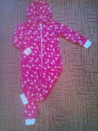 Флисовый слип, домашний костюм девочке 4*5 лет.