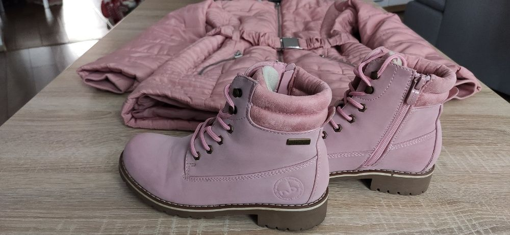 Kurtka zimowa rozm. 9-10 lat plus buty r34 - komplet Strzegom - image 1