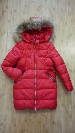 Зимнее пальто пуховик на девочку lebo junior